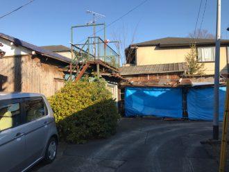 埼玉県草加市谷塚上町の解体工事を行いました。