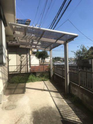 練馬区大泉町のカーポート撤去工事を行いました。