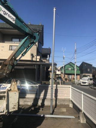 所沢市上新井 鉄柱撤去工事を行いました。