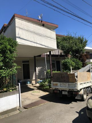 川崎市宮前区馬絹の解体工事を行いました。
