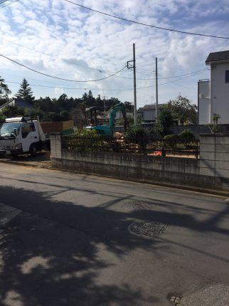 上尾市上の解体工事を行いました。