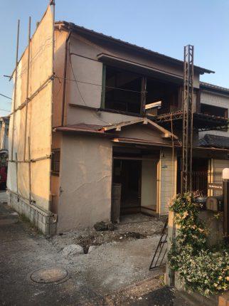 板橋区西台の解体工事を行いました。