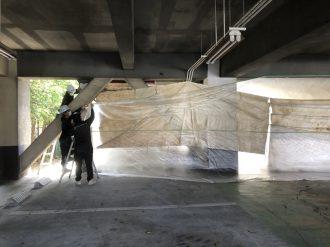 板橋区高島平 ケイカル板撤去工事を行いました。