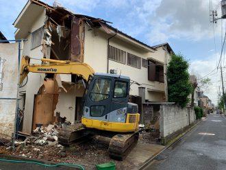 大田区中央の解体工事を行いました。