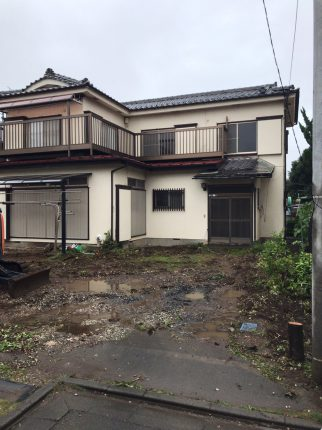所沢市西住吉の解体工事を行いました。