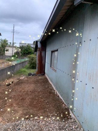 川越市下老袋の小屋撤去工事を行いました。