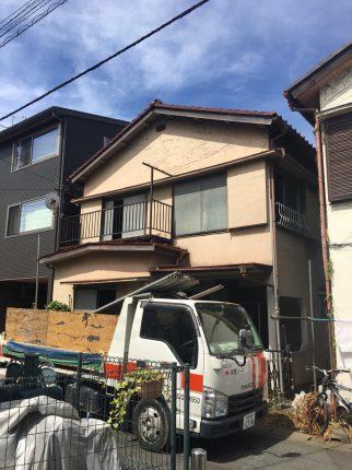 朝霞市東弁財の解体工事を行いました。