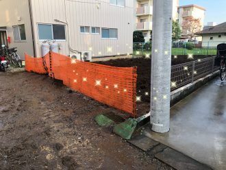 草加市柳島 地中解体工事を行いました。
