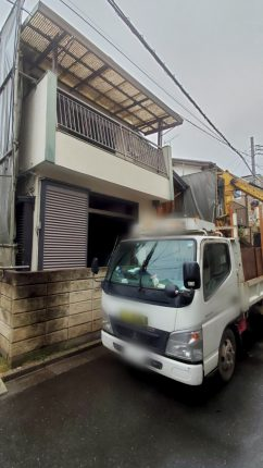 川口市道合 解体工事を行いました。