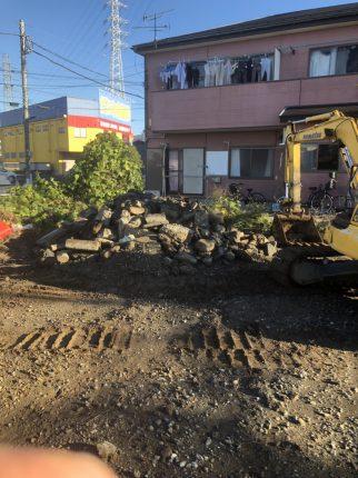 川口市辻 ガラ撤去工事を行いました。